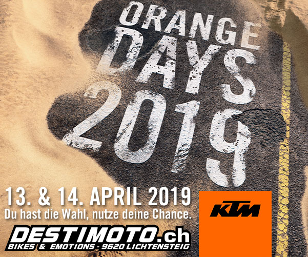 KTM ORANGE DAYS, 13./14. April, 11.00 – 17.00