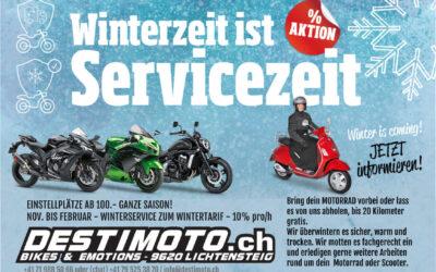Winterzeit ist Servicezeit